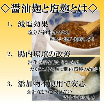 醤油麹と塩麹説明