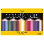 【メール便対応/1個まで】トンボ鉛筆 缶入色鉛筆 36色 CB-NQ36C