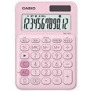 【メール便対応】カシオカラフル電卓(ミニジャストタイプ)12桁MW-C20C-PK-Nペールピンク