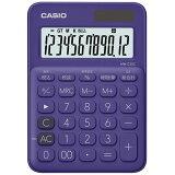 【メール便不可】カシオ カラフル電卓(ミニジャストタイプ) 12桁 MW-C20C-PL-N パープル