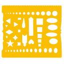 オフィス・エクスプレスで買える「【メール便対応】UCHIDA テンプレート カット定規 No.72 1-843-0072」の画像です。価格は175円になります。