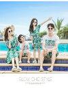 子供ペアルック ワンピース リンクコーデ 親子 セット ペアtシャツ オープンショルダー ビーチウェア 半袖tシャツ+サーフパンツ メンズ サマードレス シンプル セクシー レディース キッズサイズ 男の子 女の子 3