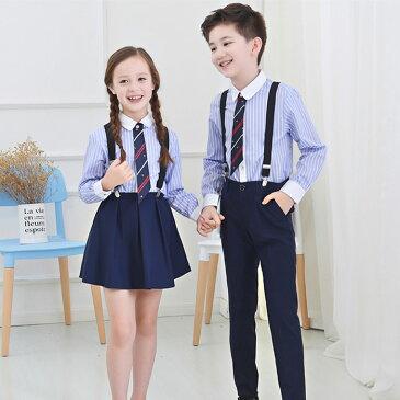 子供 4点セット(シャツ/ネクタイ/パンツ/スカート/ベルト)女の子 男の子 キッズ フォーマル 入園式 卒園式 入学式 卒業式 発表会 七五三 スーツ サスペンダー 子ども服フォーマル
