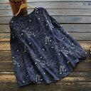 チュニック 長袖 レディース おしゃれ ブラウス トップス 大きいサイズ ゆったり 30代 40代 50代 tシャツ きれいめ 春 秋 体型カバー 3594
