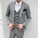 スーツ メンズ おしゃれ 結婚式 2次会 ビジネス スリーピース 細身 タイト 大きいサイズ フォーマル カジュアルスーツ リクルート かっこいい 2692