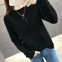 ニット セーター レディース 10代 20代 30代 ファッション トップス 長袖 春秋 冬 大きいサイズ おしゃれ 黒 ブラック 4308