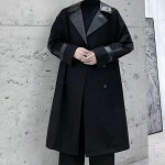 メンズコートロング丈韓国ジャケットアウター8178