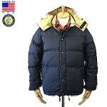 CrescentDownWorks【クレセントダウンワークス】DownSweaterダウンセーター60/40ClothNavyxKhakiアメリカ製2015年秋冬入荷商品