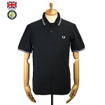 FredPerry�ڥե�åɡ��ڥ꡼��M12Men'sTwinTippedFredPerryPoloShirt��󥺥ĥ���ƥ��åץե�åɥڥ꡼�ݥ?��ġ�Ⱦµ�ݥ?��ġۥ����ꥹ��