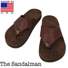 THE SANDALMAN 【サンダルマン】BEACH WIDE ビーチワイド レザートング サンダル アメリカ製
