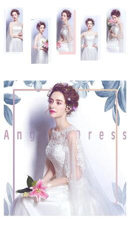 f38aaae2866a8 ... 豪華レースベール編み上げタイプウェディングドレス花嫁ドレスロング丈ウェディングドレス礼服結婚式 ...