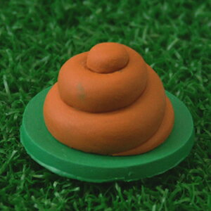 Joke Funny Cute? Spiral (Shit) Magnetic Golf Ball Marker with Hat Clip