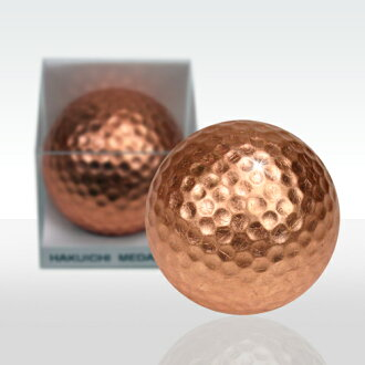 Copper Leaf Golf Ball (Pack of 1, Kanazawa Japan gold leaf)