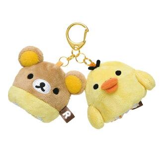 【懶懶熊 拉拉熊 & 小黃雞  (RILAKKUMA series)】高爾夫小球包・小球袋・小掛包 / Golf ball holder (兩個球)