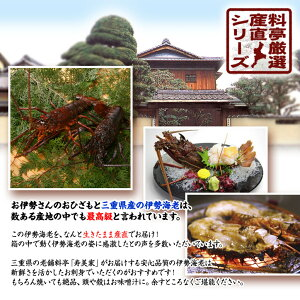 特大A3パネル付目録三重の料亭・和久庵伊勢海老3万円(本体価格)2