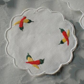 ベトナム製手刺繍コースター6枚セットJ