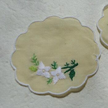 ベトナム製手刺繍コースター6枚セットL
