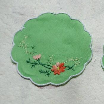 ベトナム製手刺繍コースター6枚セットN