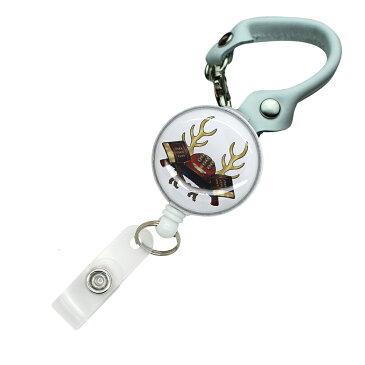 定形外郵便限定 送料無料真田幸村 リール付き ショートストラップ バックストラップ パスケースや鍵用に