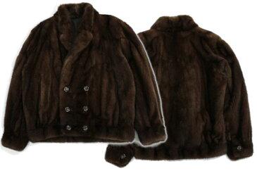 【1万円以上で5%OFFクーポン配布中】 全2色3サイズ メンズ ミンク ファー テーラード ジャケット 送料無料 ギフト プレゼント