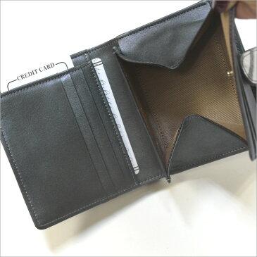 日本製 本革 プラネット カウ レザー 2つ折り財布 コンパクト ギャルソン 型押し プリント 牛革 レディース サイフ 送料無料 ギフト プレゼント