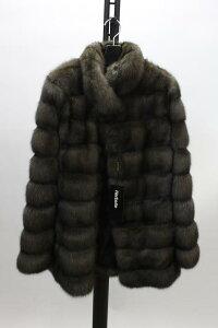 ファージャケット,毛皮セーブル ファー ジャケット ブラウン 送料無料 レディース ギフト