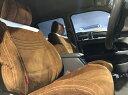 ヴェゼル RU1/RU2 (2018/2〜) シートカバー キルティングタイプ ブラック×レッドステッチ