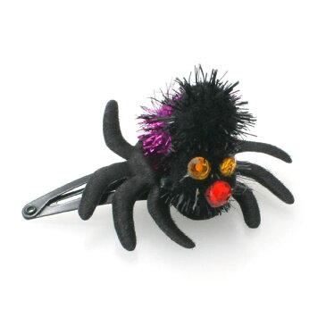 ヘアピン パッチンピン ハロウィン ヘアアクセサリー 蜘蛛 【B49-】キッズ 子供 女の子 コスプレ 仮装 衣装