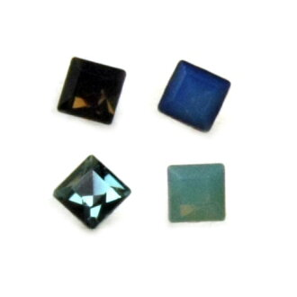 (-pair ) resin post earrings 3 mm square Y63-pair (2 pieces) • more than 2100 Yen at down: fs3gm
