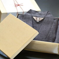 プレゼント日本製甚平メンズ男性じんべい木箱(竹籠)入りルームウェア部屋着/2サイズ3色メイン画像