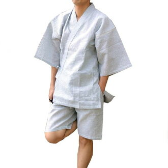 """Custom-made"" Jinbei, じんべい, men, cotton linen material, Shiji et weave men 2 pants (long pants + shorts) cotton hemp Jinbei (じんべい) / men"