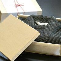 プレゼント甚平メンズ男性じんべい木箱(竹籠)入りしじら織りルームウェア部屋着/5サイズ6タイプメイン画像