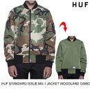 HUFハフSTANDARDISSUEMA-1JACKET【2色】スケート・メンズ・ジャケット・ブルゾン・アウター・ストリート[セ]