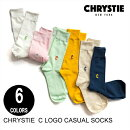 CHRYSTIENYCクリスティCASUALSOCKS【6色】スケート・メンズ・靴下・ソックス人気上昇中!ビビットカラー[セ]