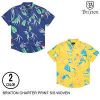 BRIXTONブリクストンCHARTERPRINTS/SWOVEN【2色】S-XL半袖シャツ[セ]