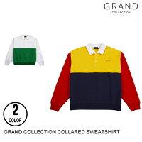 GRANDCOLLECTIONグランドコレクションCOLLAREDSWEATSHIRT【3色】M-Lスウェット[セ]