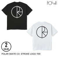POLARSKATECO.ポーラーSTROKELOGOTEE【3色】XS-XL半袖Tシャツ[セ]