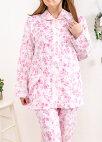 【日本製】ダブルガーゼ肌に優しい綿100%パジャマレディース春秋長袖【Sサイズ】あり
