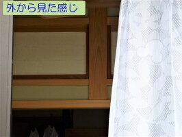 【送料無料】ネコ柄遮光性カーテン「ラブキャットベージュ」ベランダ用100X1782枚組
