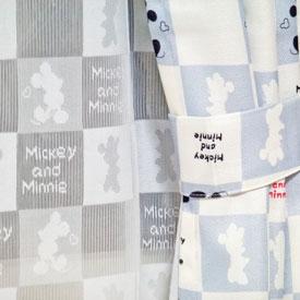 【期間限定お買い得品】【送料無料】レースミッキーチェックディズニーミラーレースカーテン