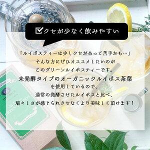 グリーンルイボスティー2.5g×20包ルイボスティールイボス茶未発酵グリーンフレーバーティーハーブティー茶葉ティーバッグお茶オーガニックノンカフェインアップルプレミアムピュアH&FBELXエイチアンドエフベルクス