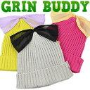Grin Buddy チュールリボン ニットワッチキャップ 子供 キッズ/ボウシ 帽子/ニット
