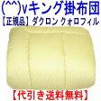 お仕立て日本製  アレルギー対策掛布団 キングサイズ クォロフィル掛け布団/代引送料込