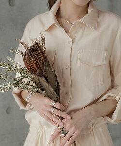 「理想の着痩せ」まくり袖で二の腕カバー。■5月中旬発送ワンピースロングワンピースシャツワンピースシャツブラウスワンピシャツワンピロングロングワンピマキシマキシワンピースレディース長袖羽織大きいサイズ黒ベージュきれいめ春夏HUG.U