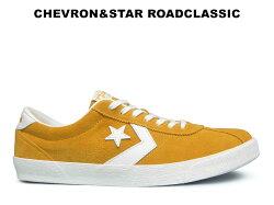 コンバースCONVERSEシェブロンスターロードクラシックゴールドレディースメンズスニーカー黄色スエードレザー