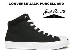 CONVERSEコンバースジャックパーセルミッドJACKPURCELLMIDブラック黒/白キャンバス