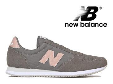 ニューバランス レディース NEW BALANCE WL220 TG グレー/ピンク スニーカー【国内正規品】