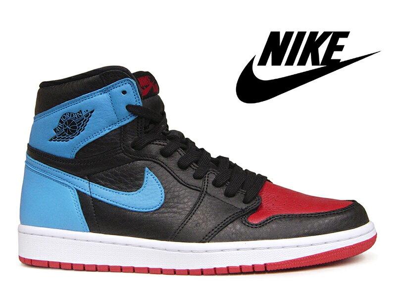 メンズ靴, スニーカー 25.5 26.0 27.0NIKE WMNS AIR JORDAN 1 HIGH OG UNC TO CHICAGO BLACKDK POWDER BLUE GYM RED 1 - BRED