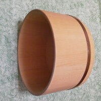 青森ヒバ湯桶(直径220mm)軽くて扱いやすい薄い湯桶!
