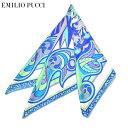 スカーフ エミリオプッチ レディース EMILIO PUCCI プッチ柄シルクスカーフ(サイズ90×90cm)eep19w112 JR485 3 ブルー